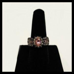 Dazzling 10KT Black Gold Filled Ring
